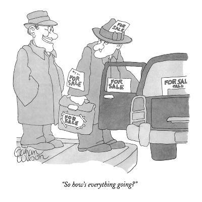"""So how's everything going?"" - New Yorker Cartoon-Gahan Wilson-Premium Giclee Print"