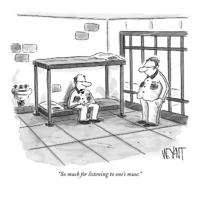 """So much for listening to one's muse."" - New Yorker Cartoon-Christopher Weyant-Premium Giclee Print"