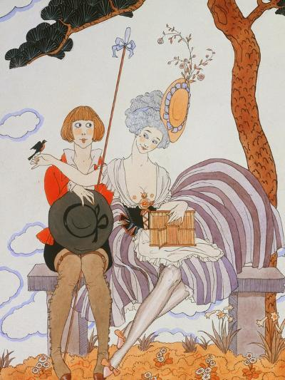 So Much or the Bird Is Quickly Tamed; Tant Mieux Ou L'Oiseau Vite Apprivoise-Georges Barbier-Giclee Print