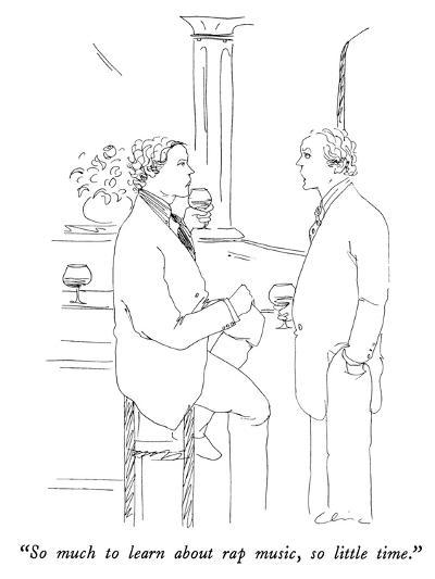 """""""So much to learn about rap music, so little time."""" - New Yorker Cartoon-Richard Cline-Premium Giclee Print"""