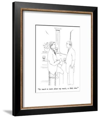 """So much to learn about rap music, so little time."" - New Yorker Cartoon-Richard Cline-Framed Premium Giclee Print"