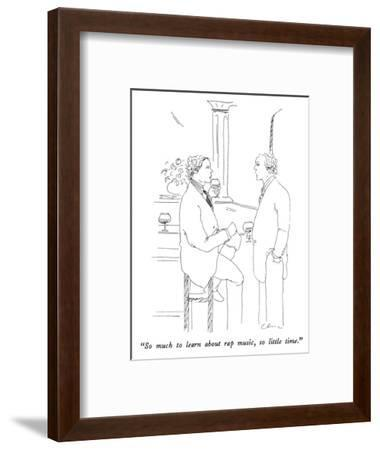"""""""So much to learn about rap music, so little time."""" - New Yorker Cartoon-Richard Cline-Framed Premium Giclee Print"""