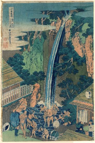 So¯Shu Oyama Roben No Taki-Katsushika Hokusai-Giclee Print
