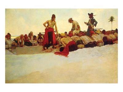 So The Treasure Was Divided-Howard Pyle-Premium Giclee Print