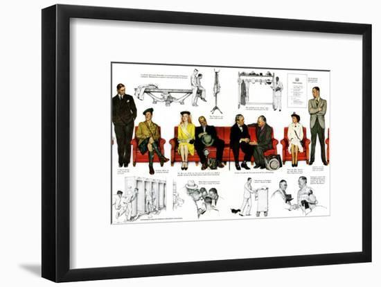 """So You Want to See the President"" B, November 13,1943-Norman Rockwell-Framed Giclee Print"