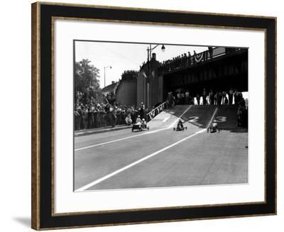 Soap Box Derby, 1946--Framed Photo