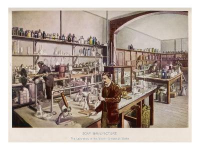 Soap Manufacture in the Laboratory at the Vinolia Company's Works--Giclee Print