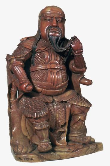 Soapstone Chinese statuette of Kuan-ti, 17th century-Unknown-Giclee Print