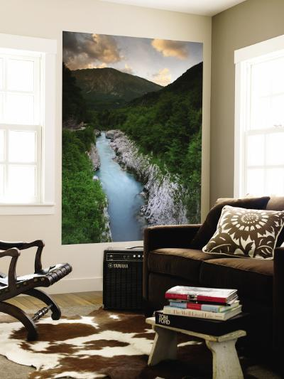 Soca River and Limestone Gorge from Napoleon Bridge-Ruth Eastham & Max Paoli-Wall Mural