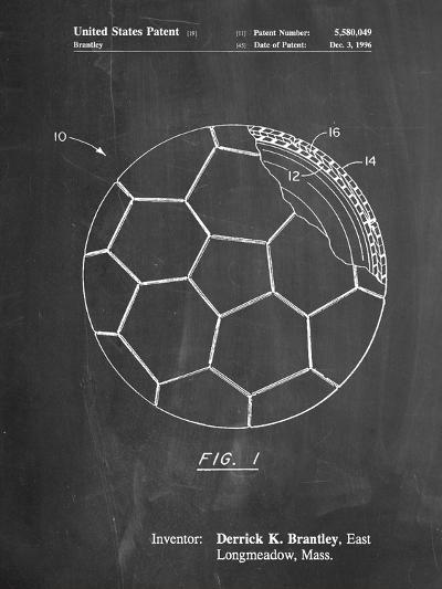 Soccer Ball Layers Patent-Cole Borders-Art Print