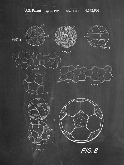 Soccer Ball Patent, How To Make--Art Print