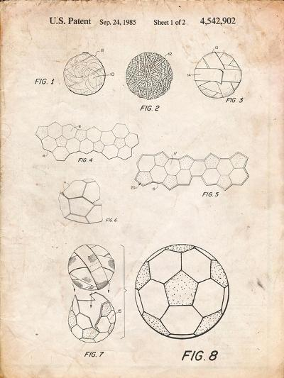 Soccer Ball Patent, How To Make-Cole Borders-Art Print