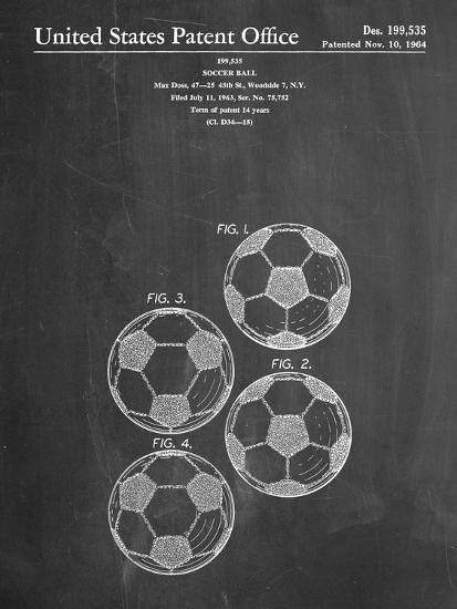 Soccer Ball Patent--Art Print