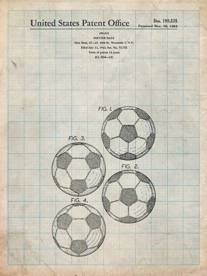 Soccer Ball Patent-Cole Borders-Art Print