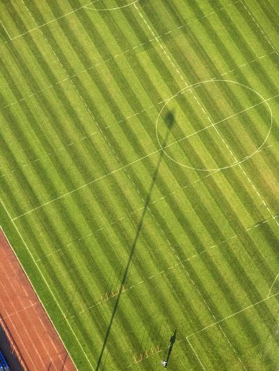 Soccer field-George Hammerstein-Photographic Print