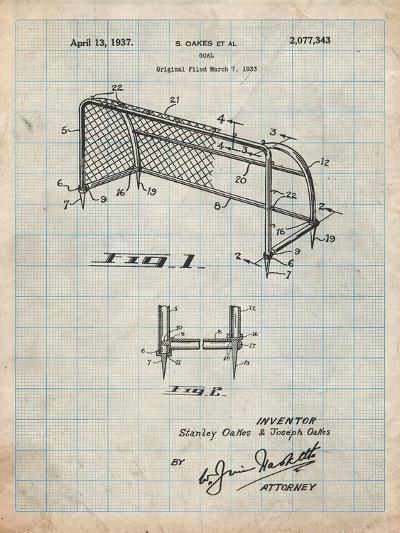 Soccer Goal Patent Art-Cole Borders-Art Print
