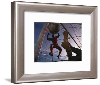 Soccer Goalie in Action--Framed Photographic Print