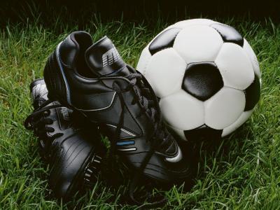 Soccer Still Life--Photographic Print