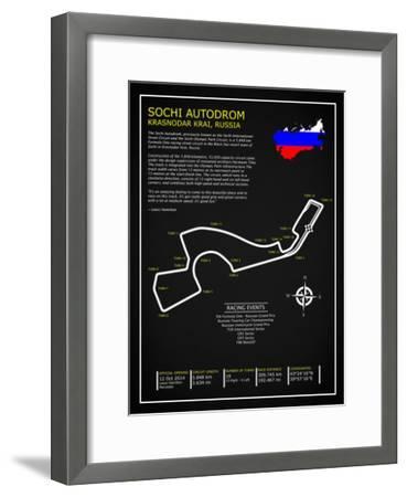 Sochi Autodrom Russia BL-Mark Rogan-Framed Giclee Print