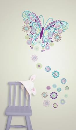 Social Butterfly Wall Art Decal Kit