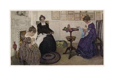 Social, US Sewing Room-Anna Whelan Betts-Giclee Print