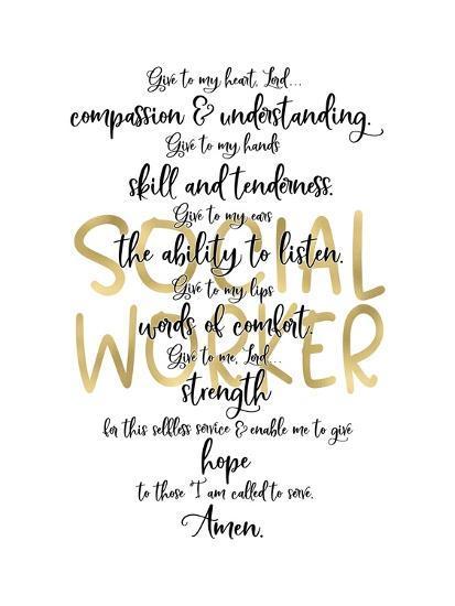 Social Worker Prayer-Tara Moss-Art Print