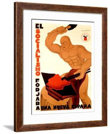 Socialisimo-Augusto Sezanne-Framed Giclee Print