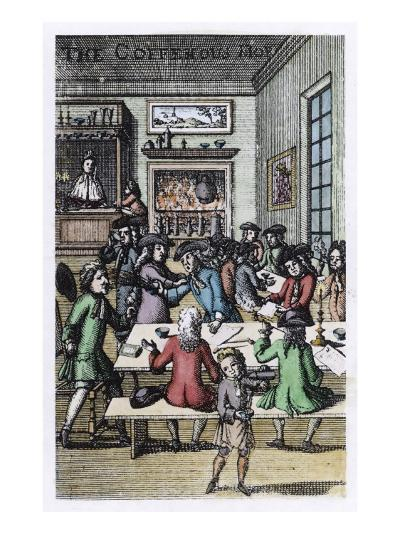 Socialising in a London Coffee House--Giclee Print