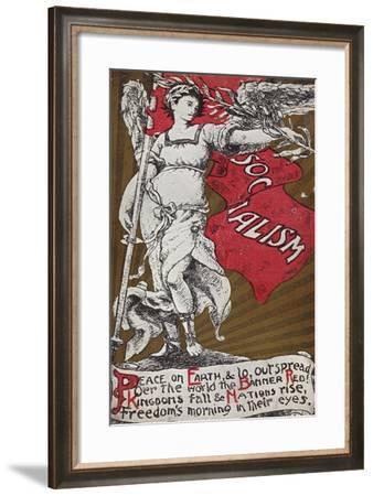 Socialist Postcard--Framed Giclee Print