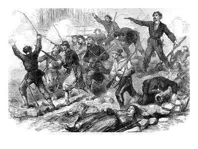 Socialists Fighting to the Death; Paris Commune, 1871--Giclee Print
