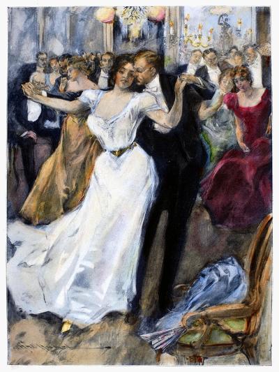 Society Ball, C1900-Hal Hurst-Giclee Print