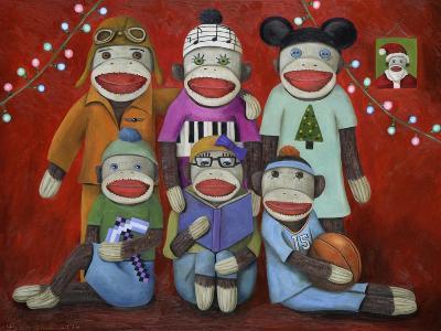 Sock Doll Family Portrait-Leah Saulnier-Giclee Print