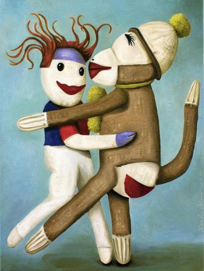 Sock Dolls Dancing-Leah Saulnier-Giclee Print
