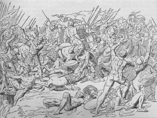 Socrates at the Battle of Potidaea, 432 BC (1908)-Unknown-Giclee Print