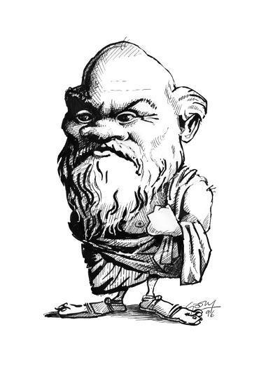 Socrates, Caricature-Gary Gastrolab-Giclee Print