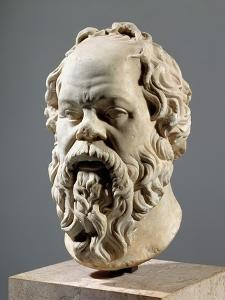 Socrates, Marble Head, Copy from a Bronze from the Pompeion in Athens