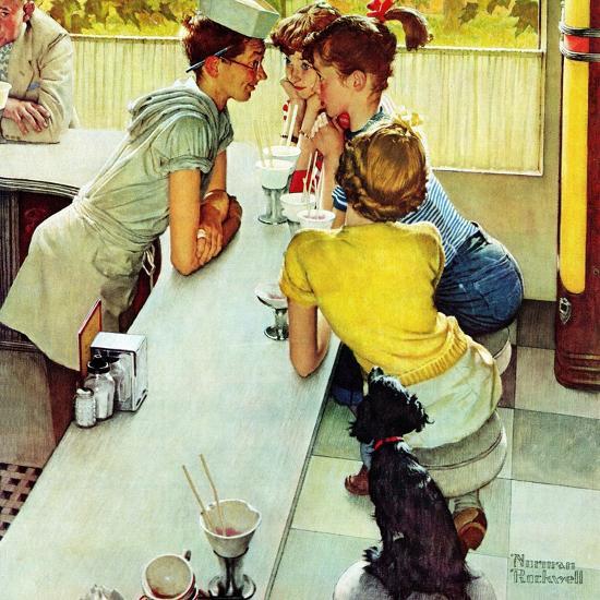 """Soda Jerk"", August 22,1953-Norman Rockwell-Premium Giclee Print"