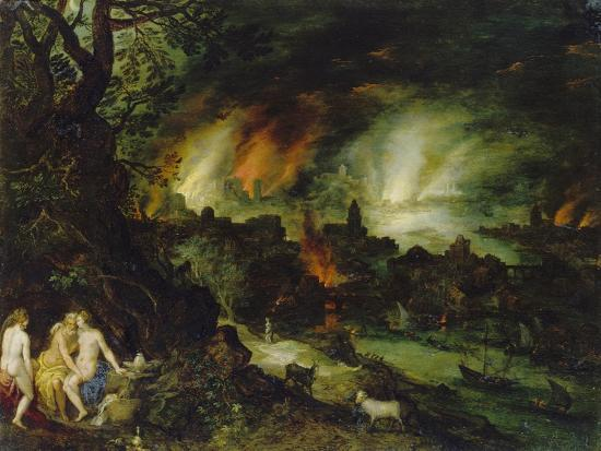 Sodom and Gomorrha (Lot and His Daughters)-Jan Brueghel the Elder-Giclee Print