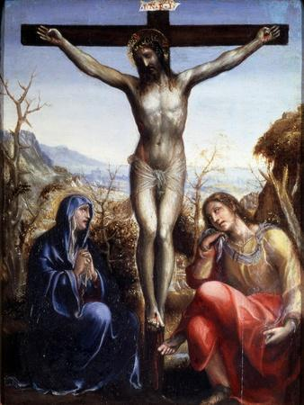 The Crucifixion with the Virgin and John the Baptist, C1540