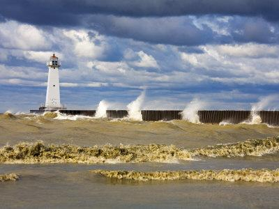 Sodus Outer Lighthouse, Sodus Point, Greater Rochester Area, New York State, USA-Richard Cummins-Photographic Print