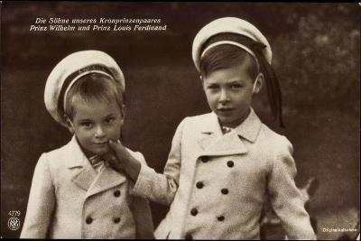 Söhne Des Kronprinzenpaares, Wilhelm, Louis, Npg 4779--Giclee Print