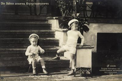 Söhne Unseres Kronprinzenpaares in Uniformen--Giclee Print