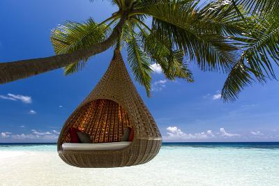 Sofa Hanging on a Tree on the Beach, Maldives, Indian Ocean-Sakis Papadopoulos-Photographic Print