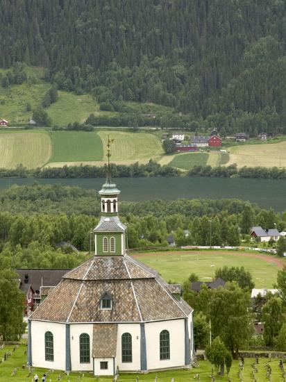 Sofar Fron Octagonal Stone Church, Laggen River Valley, Ringebu, Norway-Russell Young-Photographic Print