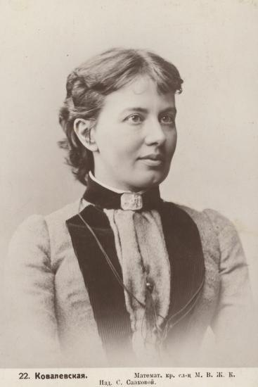 Sofia Kovalevskaya, Russian Mathematician--Photographic Print