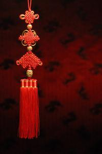 Chinese New Year Decoration--Closeup of Chinese Knot. by Sofiaworld