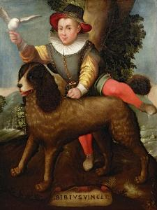 Boy and Dog, Bibius Vincit by Sofonisba Anguisciola