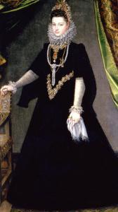 Infanta Isabella Clara Eugenia, Daughter of King Philip II of Spain and Isabella of Valois, 1599 by Sofonisba Anguisciola