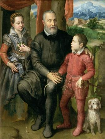 Portrait of the Artist's Family, Minerva Amilcare and Asdrubale, 1559