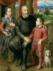 Portrait of the Artist's Family, Minerva Amilcare and Asdrubale, 1559 by Sofonisba Anguisciola